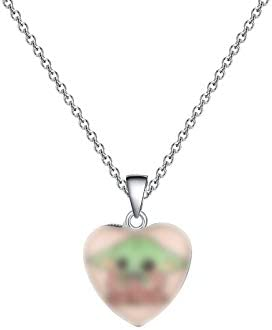 AKTAP Star War Inspired Jewelry Baby Yoda Necklace Cartoon Cosplay Gift for Baby Yoda Fans Baby product image