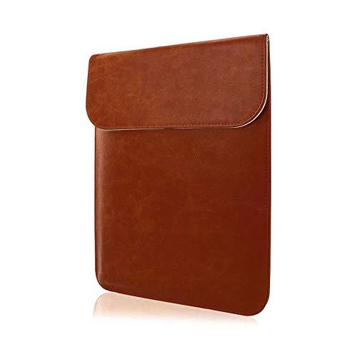 Funda de cuero para laptop, Funda Protectora Compatible de 13-13.3 Pulgadas, para MacBook Pro de 13 pulgadas 2012-2015 y MacBook Air de 13 pulgadas 2011-2017, Dimensiones de 33.5 CM x 24.5 CM, Funda de Cuero Elegante y Delgada, Estilo Unico.