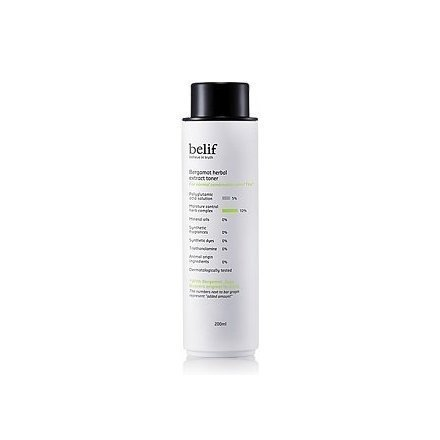 KOREAN COSMETICS, LG Household & Health Care_ belif, Bergamot Herbal Extract Toner (200ml , normal to combination skin, moisturizes, clear skin)[001KR]