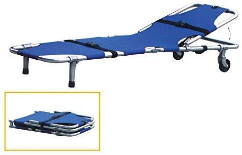 """GLJY Faltbare Krankentrage, Aluminiumlegierung, Tragbare Krankentrage LRSD-Foo1B, 73""""X 20"""" X 9,8"""", Blau"""