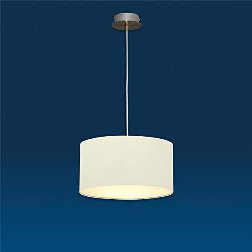 Lampenlux Pendelleuchte Nero Beige Hängeleuchte Bauhaus Höhenverstellbar Nickel Satiniert Lichtdurchlässige Folie Robust Hängelampe Pendellampe Ø30cm