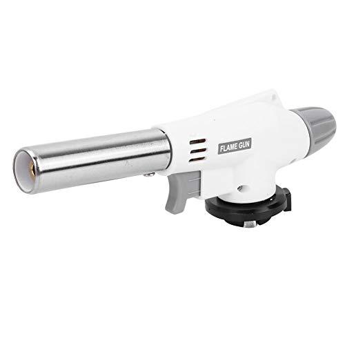 GAESHOW Encendedor de Gas Butano Electrónico Automático Portátil Pistola de Soldadura Picnic Cocina Cocina Blanco