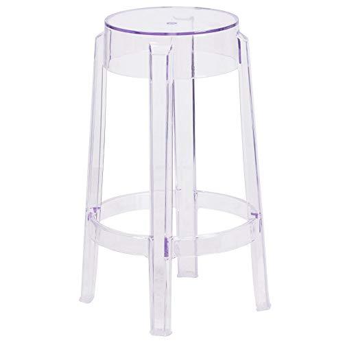Flash Furniture 25.75'' High Transparent Counter Height Stool