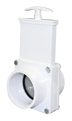 "Valterra 4303 PVC Gate Valve, White, 3"" Spig from Valterra Products"