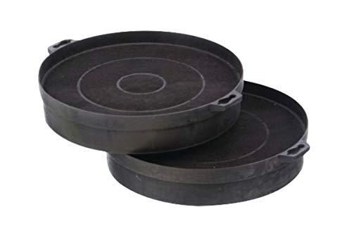 2 Aktivkohlefilter Ø 200 x 210 mm rund für Dunstabzugshauben Bosch Siemens Neff Nr. : 353121