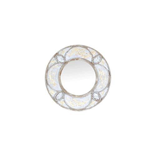 Art Deco Home - Espejo Pared Circular Decorado 80 cm - 16073SG