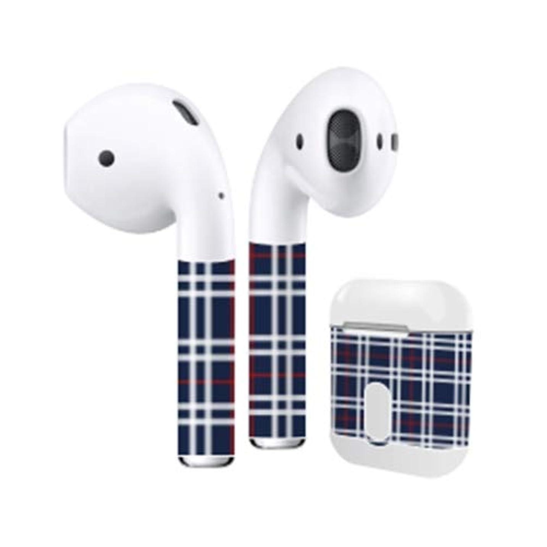 味批判する重量Air Pods スキンシール タータンチェック airpods apple アップル イヤホン AirPods 第一世代(2016)airpods2 第二世代(2019) (T????)