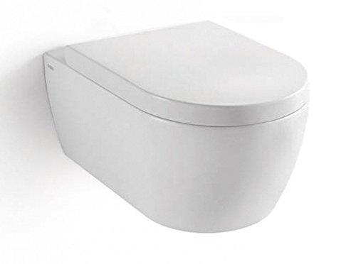 SSWW Design Hänge WC Spülrandlos Toilette inkl. WC Sitz mit Softclose Absenkautomatik + Abnehmbar - 2