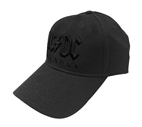 AC/DC Baseball Cap Back in Schwarz Band Logo Nue offiziell Schwarz Snapback