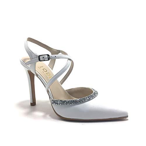 LODI Velma, Zapatos de Novia, Puntera Cerrada, Color Blanco Roto, de tacón, para Mujer.