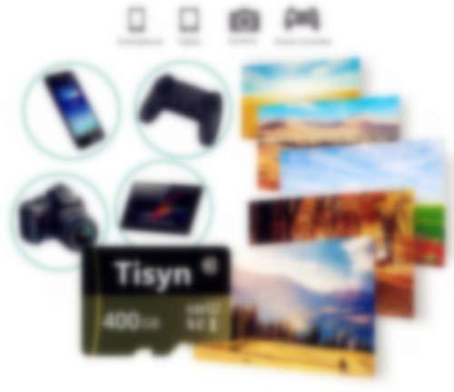 Tisyn 400GB Micro Speicherkarte, SD Karte 400GB Class 10 Speicherkarte + SD Adapter (L2F-Y1) (400 GB)
