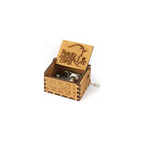 La Caja De Música De Madera Tallada Classic Musical Box Crafts Bella Y La Bestia Regalos Para Los Niños Amigos