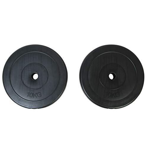 Numero di piastre di peso: 2 Peso di ogni piastra di peso: 10 kg Diametro della piastra: 31,5 cm Diametro dei fori: 26,5 mm