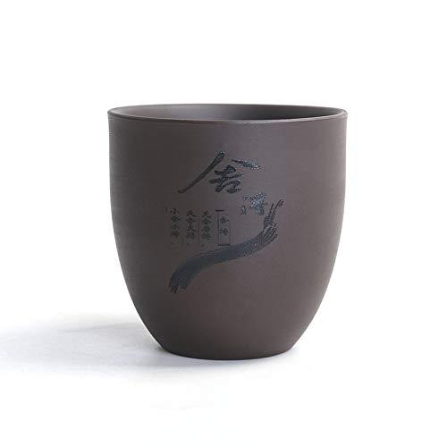 GBCJ Zisha Kung Fu Juego De Té Accesorios Taza De Té Estilo Antiguo Taza Japonesa Taza De Té Zen Master Taza Taza Individual Pequeño Cuenco De Té Hecho A Mano Juego De Té Platillo