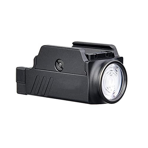 ZGLXZ Flashlight 800 Lumens Flashlight Montado En Riel USB Linterna Recargable LED LED Luz Fuerte Adecuado para Patrulla, Camping