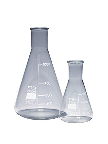 Pyrex 1130/36D Flask, Glass, 5L, Erlenmeyer Narrow Neck