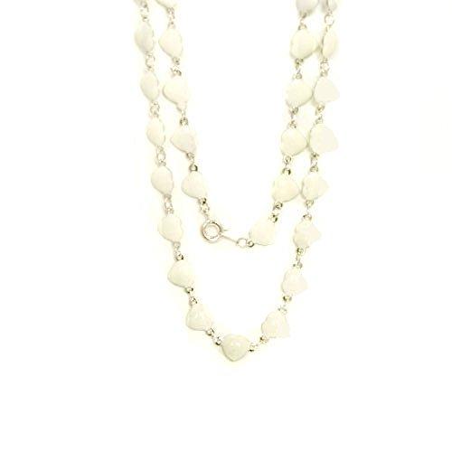 WL Fashion Halskette für Kinder mit Herzen-Motiv in weiß 030-00347