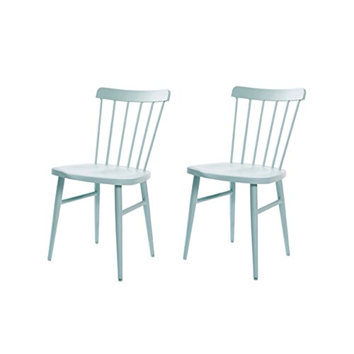 YYHSND Nordic Windsor Chair American Restaurant Minimalista Moderno Personality Artist Net Red Mesa Y Silla Ins Wind Chair Mesa de té (Color : Green, Size : #1)