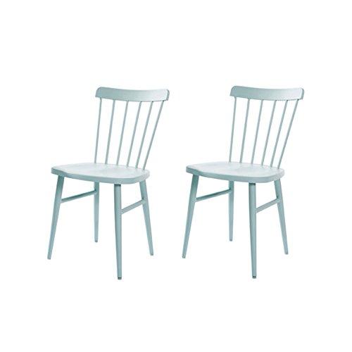 QARYYQ Nordic Windsor Chair American Restaurant Minimalista Moderno Personality Artist Net Red Mesa Y Silla Ins Wind Chair Mesita pequeña (Color : Green, Size : #1)