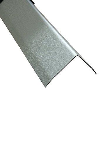 Edelstahl Winkel 3-fach gekantet Winkelblech geschliffen Eckwinkel 2 Meter lang (30x30 mm)