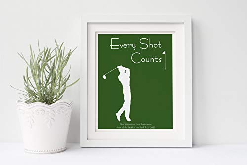 Golf Prints, Personalised Golfer Gifts for Men, Golf Presents for Dad, Retirement Gifts for Husband