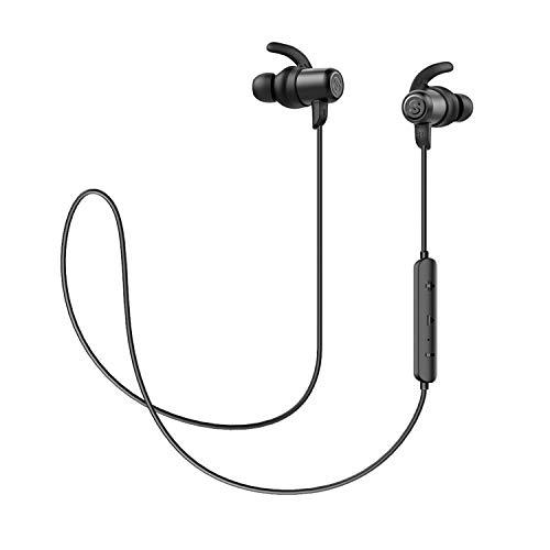 Auriculares Bluetooth 5.0 Inalámbricos Magnéticos SoundPEATS Value Cascos Deportivos con Micrófono IPX6 Manos Libres Hi-Fi Sonido hasta 7h
