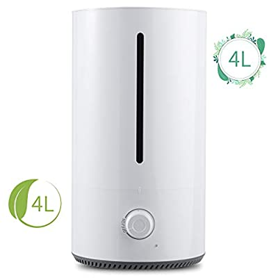 NGOZI Humidifiers for Bedroom, 4L Cool Mist Humidifier Super-Quiet Air Humidifiers for Sleep Cough, Aroma Diffuser with 18 Working Hours Ultrasonic Humidifiers