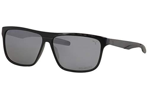 Puma PU 0221 S- 001 - Gafas de sol, color negro y plateado