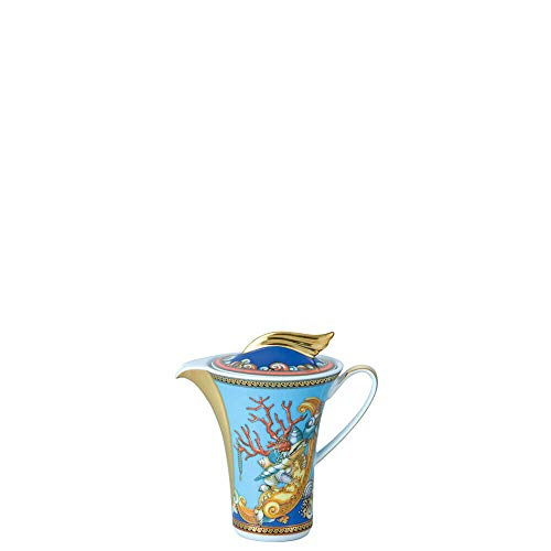 Versace Les Trésors De La Mer Lattiera, Porcellana, Blu, 17x 17x 7.7cm