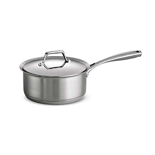 Tramontina Covered Sauce Pan Stainless Steel Tri-Ply Base, 3 Qt, 80101/025DS