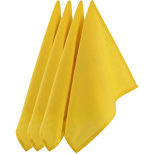 Sidorenko strofinacci cucina cotone 45x75 cm giallo monochromatico - Set di asciugamani da cucina di alta qualità in 4 pezzi - Asciugapiatti Premium - stracci cucina in cotone per asciugare - giallo