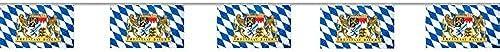 BUDILA 0 Fahnenketten XXL Freistaat Bayern Oktoberfest aus Stoff je 10m lang mit 15 Fahnen je 45x30cm  s = 500m Gesamtl e
