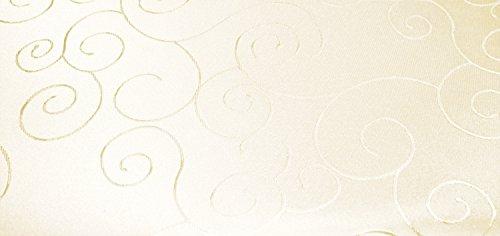 Tafelkleed hoekig 160x260 cm structuur damast tafelkleed cirkel strijkvrij #1286 modern 160x260 eckig champagne