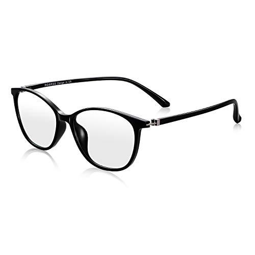PORPEE Gafas Luz Azul, Gafas de Ordenador, Gafas uv, Protección para Pantalla/Móvil/Tablet/TV, Evita la Fatiga Ocular, Lentes Transparentes Unisexo para Hombres y Mujeres ⭐