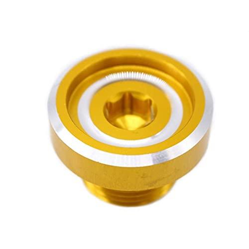 ZIHAN Feil Store Tapa de Aceite del Motor Ajuste Adecuado para Suzuki Accesorios de Motocicleta modificada Motor del Motor Tornillo de Aceite GSX-R600 / 750/1000 (Color : Yellow)