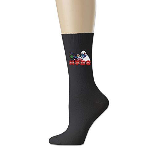 TUCBOA Calcetines De Algodón,Gatchaman Science Ninjas Crew Calcetines, Suaves Y Cómodos Calcetines De Vestir Para Correr Al Aire Libre,18cm