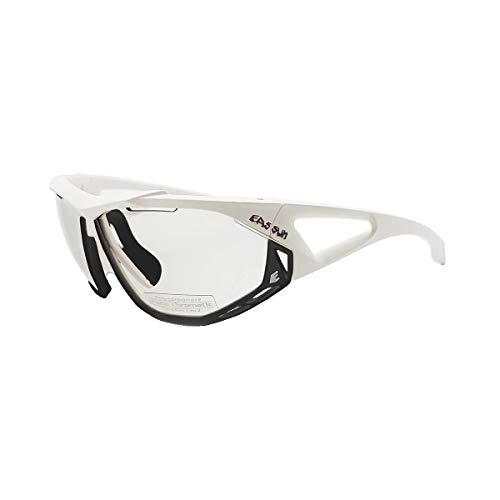 EASSUN Gafas de Mountain Bike Epic, Fotocromáticas con Sistema de Ventilación Airflow - Blanco y Negro