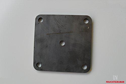Bodenplatte 150x150x8 mm , Brennschnitt, Zubehör, z.B. als Geländerplatte