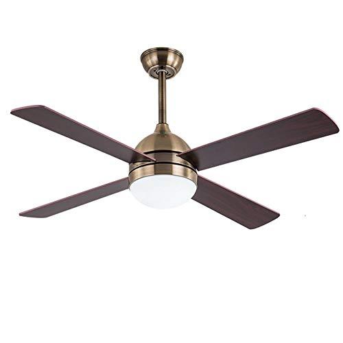 Rustig houten bladplafondventilatorlicht, balanceren, stabiele ventilator, veilige energiebesparende slaapkamer, woonkamer, eetkamer, decoratief ventilatorlicht, brons