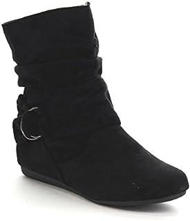 Forever Link Selena-58 Women's Fashion Mid Calf Flat Heel...
