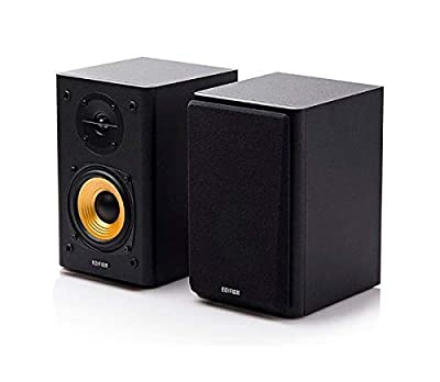 Edifier R1000T4 Active 2.0 bookshelf speaker system ideal TV, PC, Laptop, Computer, Hi-Fi (Black) from Edifier