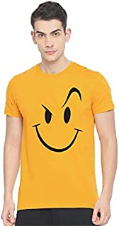 Tee Town Wink Cotton Round Neck T-Shirt for Mens