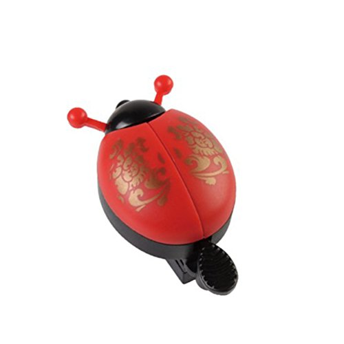 VOSAREA Kids Bike Bell Funny Ladybird Cycling Bell Ring Cute Cycling Mermaid Mini Bells Children Outdoor Sports Accessories for Bicycles (Red)