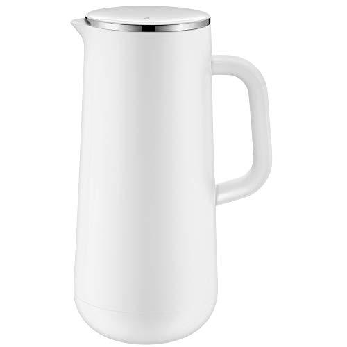 WMF Impulse Thermoskanne 1l, Isolierkanne für Kaffee oder Tee, Drehverschluss, hält Getränke 24h kalt und warm, weiß
