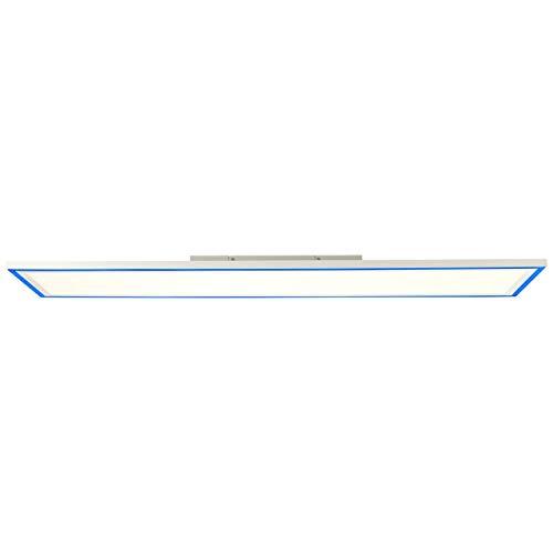 BRILLIANT lamp Lanette Panel de techo LED 120x30cm blanco  1x 37W LED integrado, 4390lm, 2700-6500K  Luz de marco RGB para iluminación de acento coloridaBrillo continuamente regulable