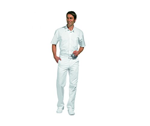 LEIBER Herrenhose weiß mit Dehnbund - Arzthose, Laborhose, Weiß, 52 EU