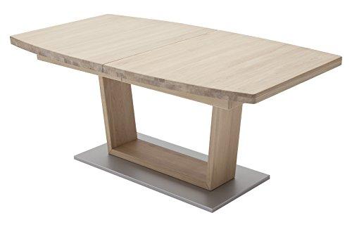Robas Lund, Tisch, Esszimmertisch, Cantania B, Eiche/Massivholz/bianco, 140 x 90 x 77 cm, CAN14BBE