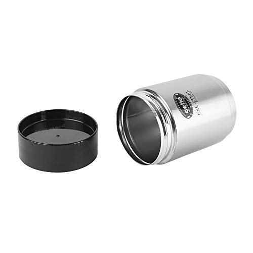 Cello Modustack Stainless Steel Container- 750 ml, 2 Pieces, Silver