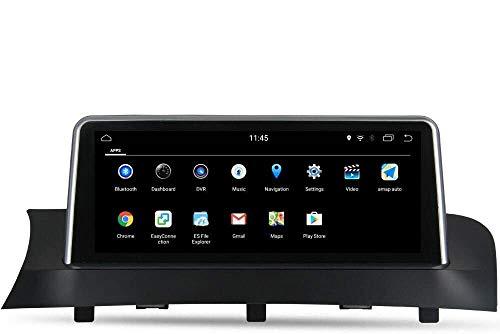 Lettore multimediale per auto 8.8 Android Auto 9.0 Autoradio Radio Sat Nav per BMW X3 F25 X4 F26 2013-2017, Supporto unità di navigazione GPS iDrive, Carplay, Bluetooth, Controllo volante, WiFi, Parc