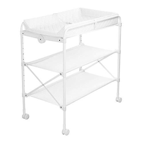 BBNBY baby veranderen tafel wit verpleegkundige dressoir opvouwbare badstation zorg metaal voor pasgeborene, hoogte aanpassing